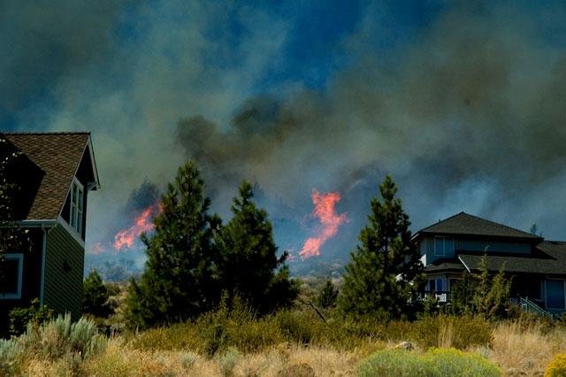 Awbrey Butte Fire Near House