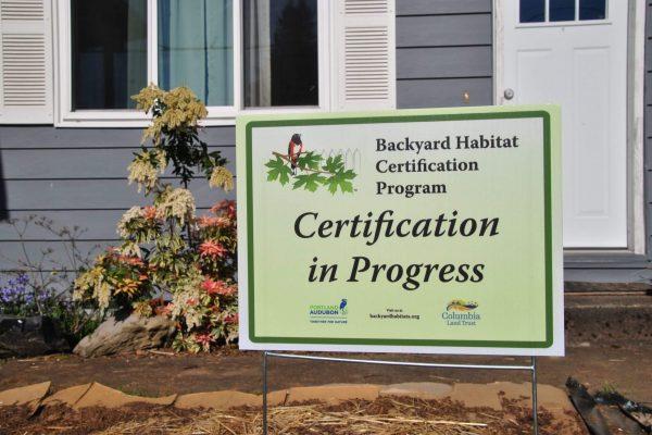 Backyard Habitat Certification in progress.