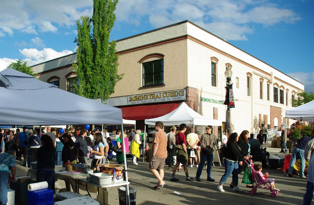County residents shop for fresh goods at the Hillsboro Farmers Market.