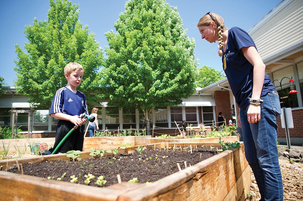 School Garden West Union TWIG