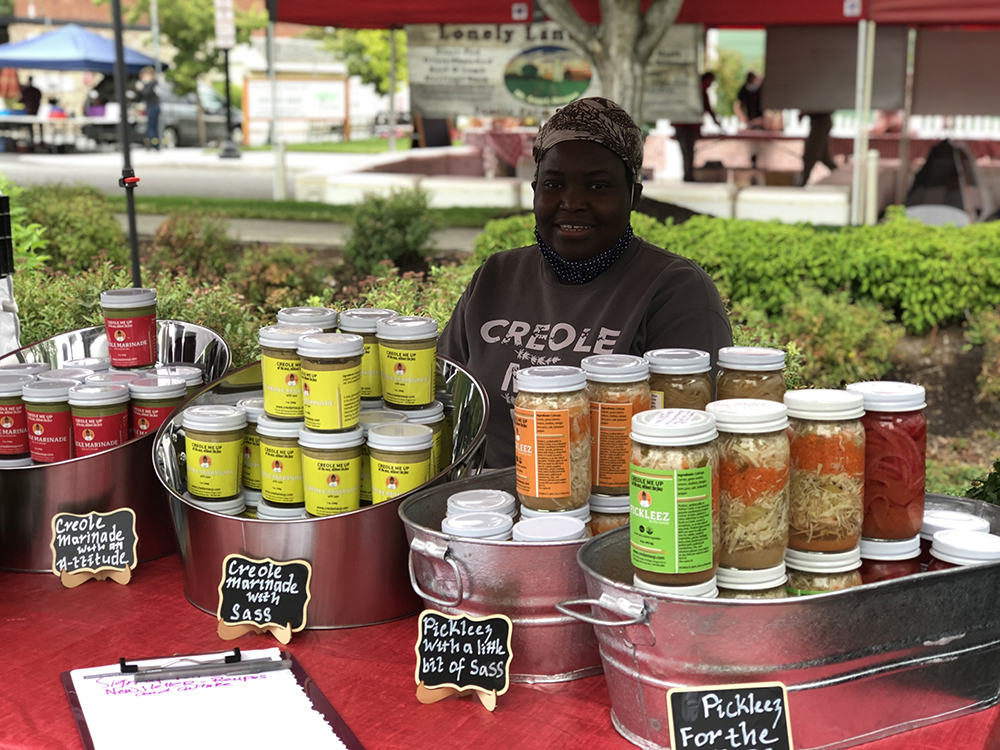Vendor at Beaverton Farmers selling Creole foods