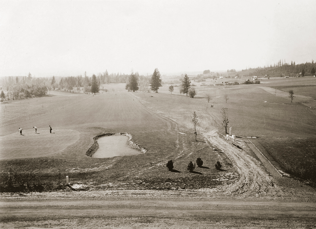 Historic photo of golf course